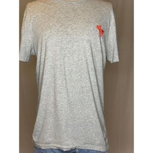 Abercrombie and Fitch Men's Grey Crew Neck Shirt